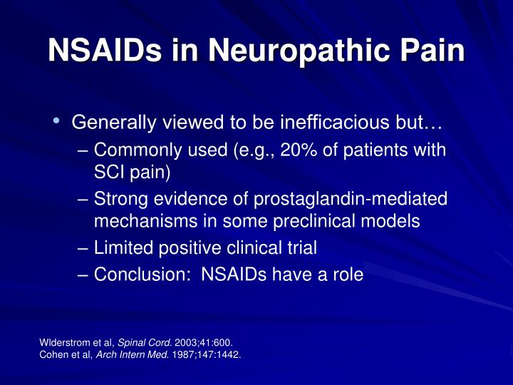 NSAIDs in Neuropathic Pain