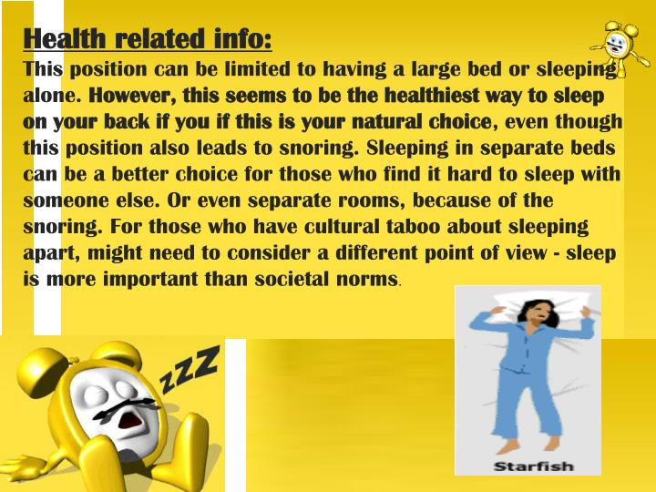 Health related info: