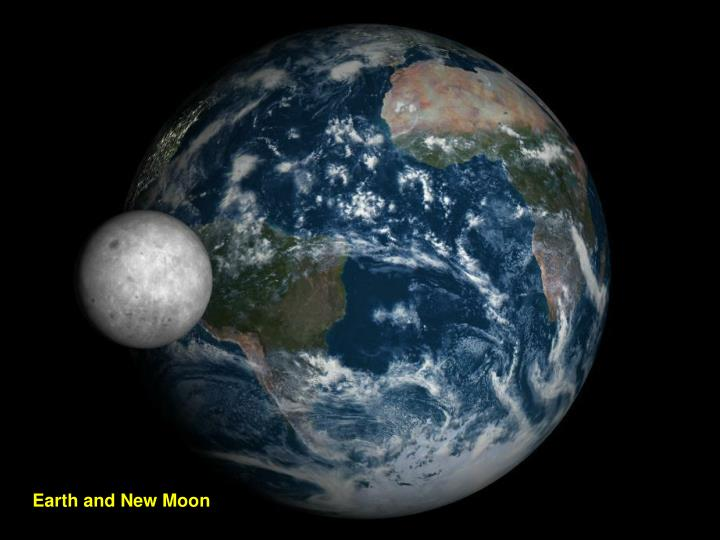 Earth and New Moon
