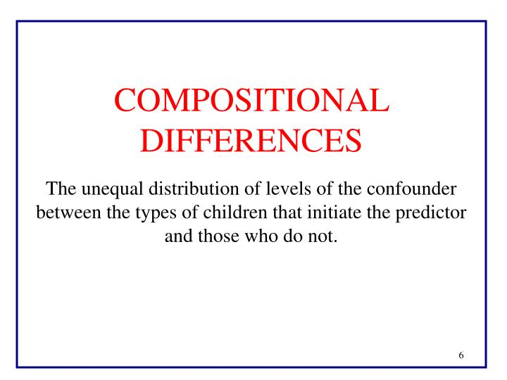 COMPOSITIONAL DIFFERENCES