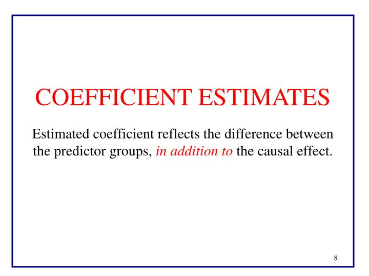 COEFFICIENT ESTIMATES