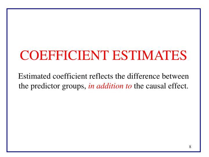 COEFFICIENT ESTIMATES