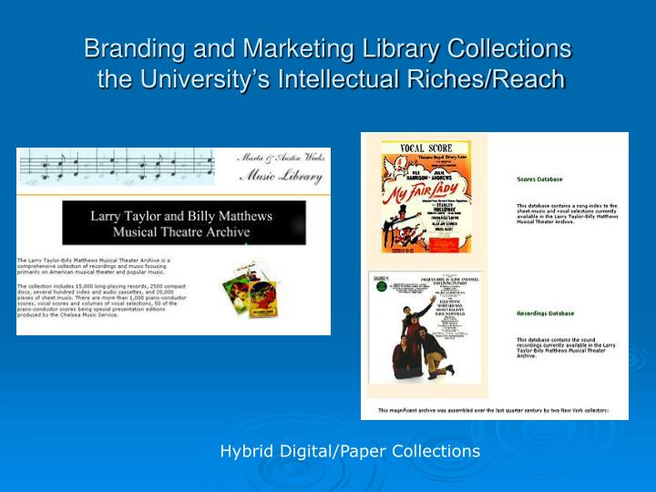 Branding and Marketing Library Collections