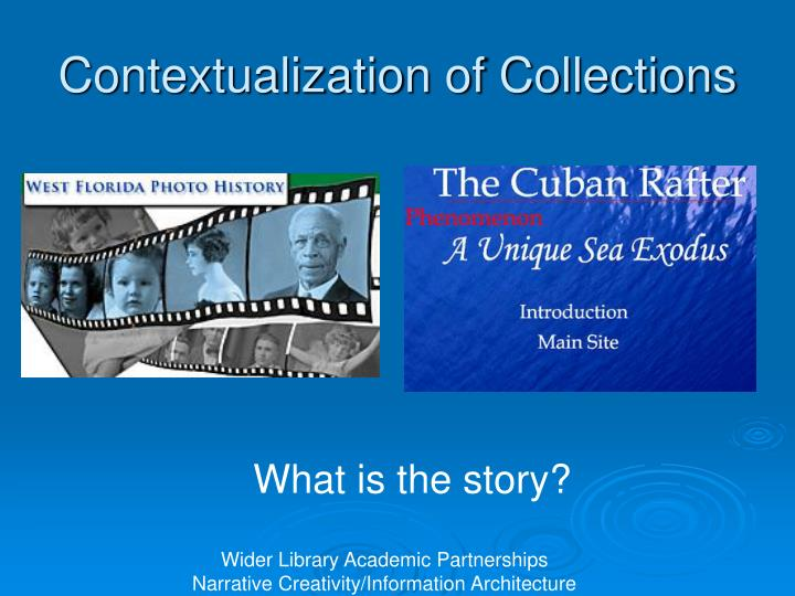 Contextualization of Collections
