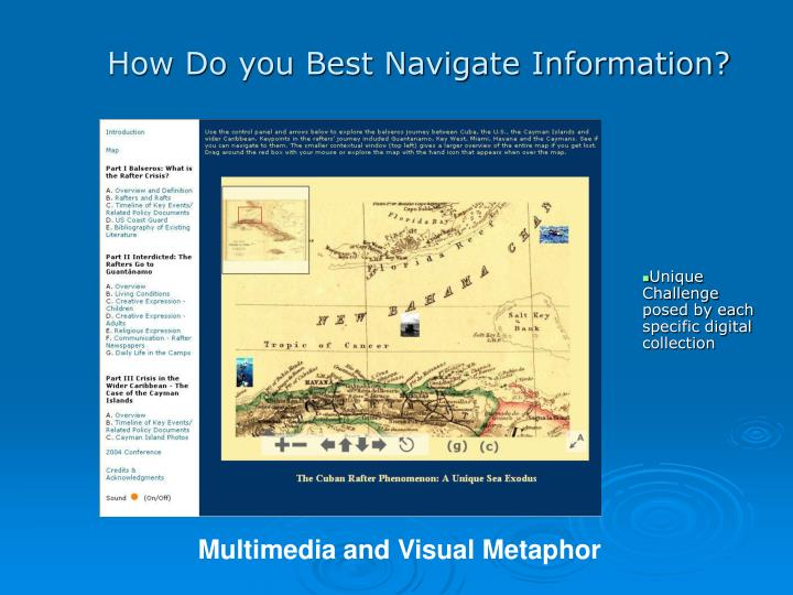 How Do you Best Navigate Information?