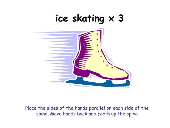ice skating x 3