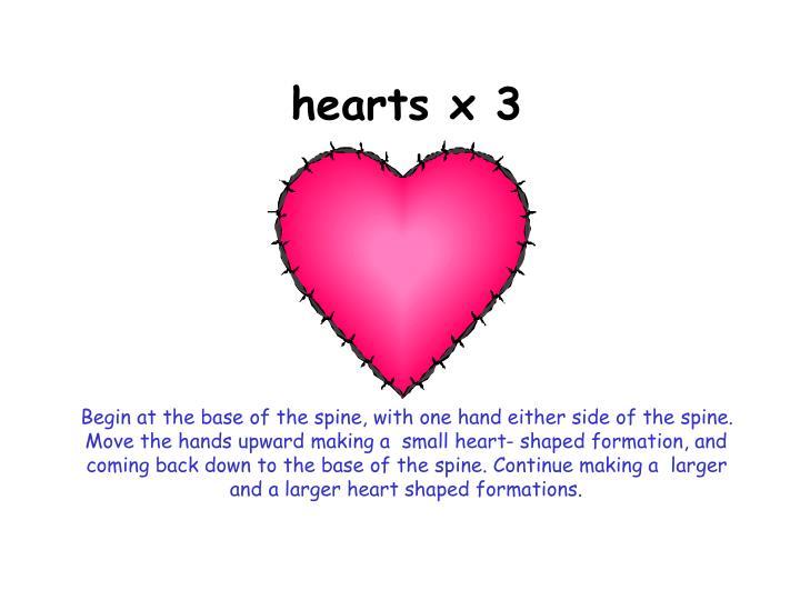 hearts x 3