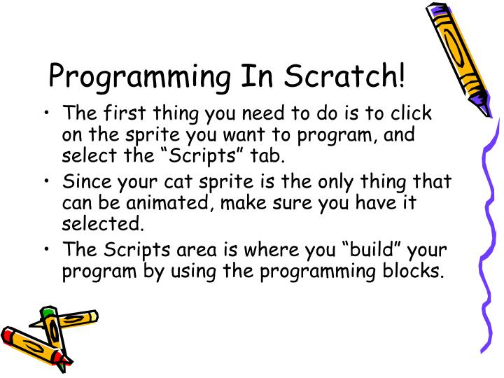 Programming In Scratch!
