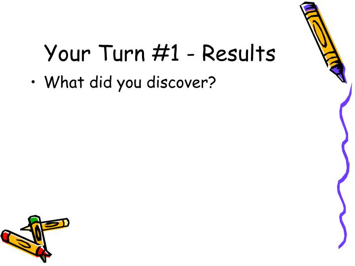 Your Turn #1 - Results