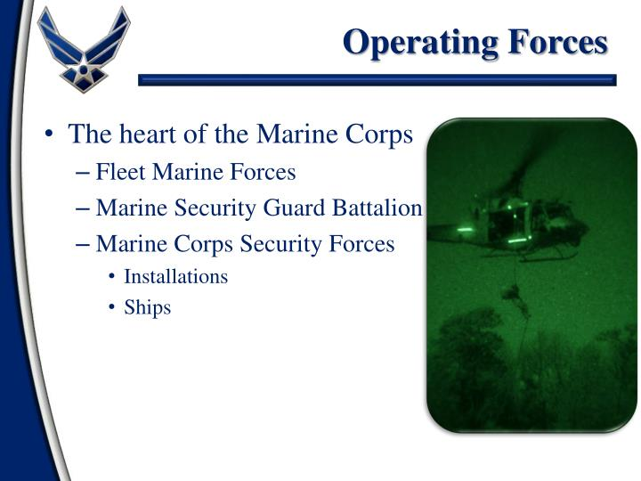 Operating Forces
