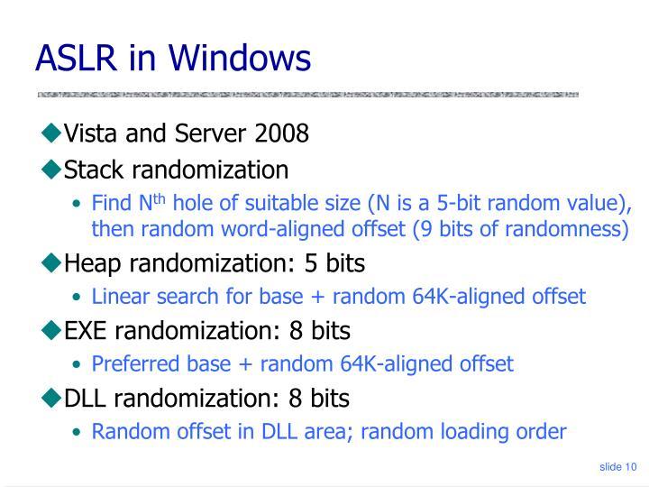 ASLR in Windows