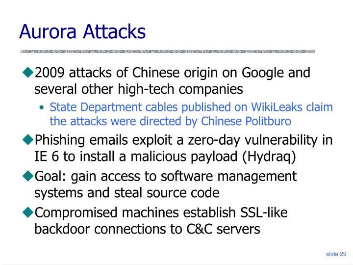 Aurora Attacks