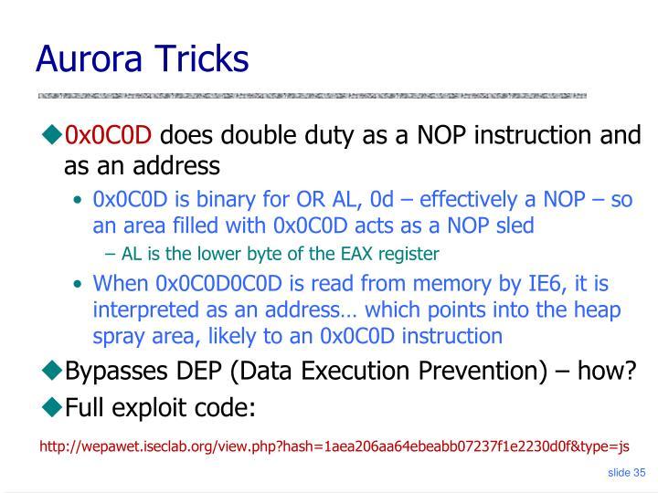 Aurora Tricks