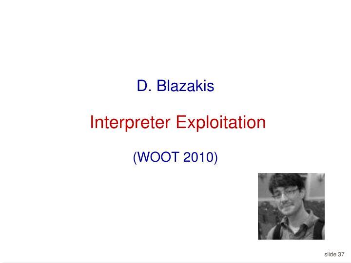 D. Blazakis