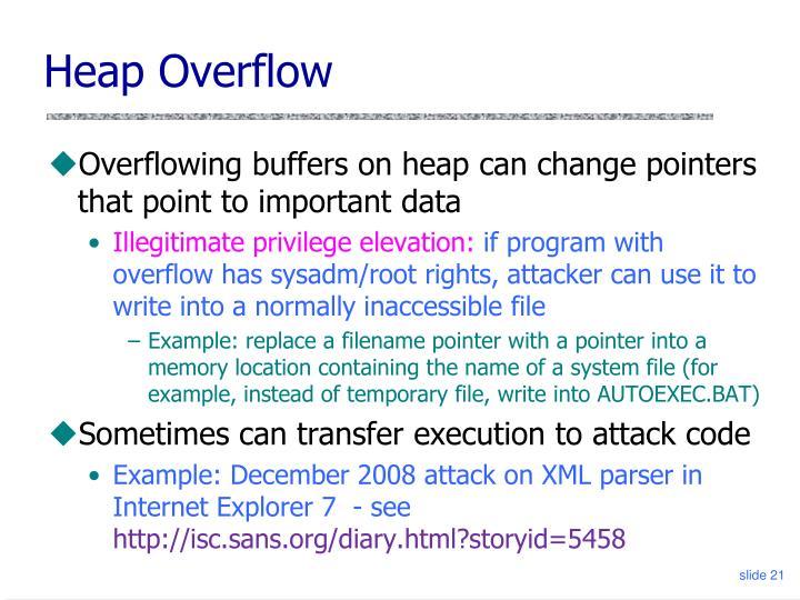 Heap Overflow
