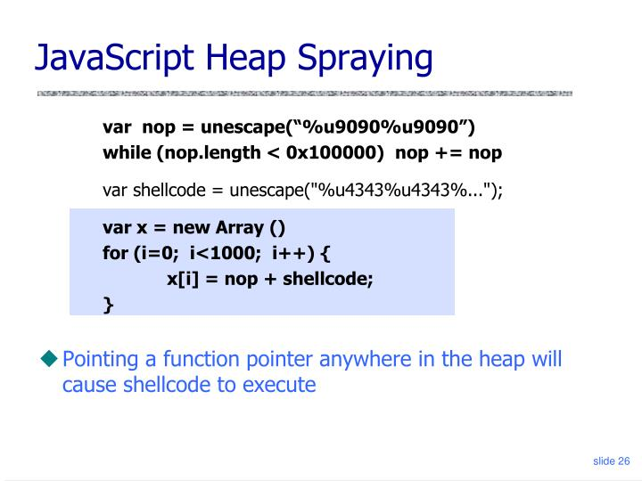 JavaScript Heap Spraying