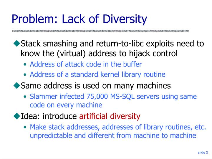 Problem: Lack of Diversity