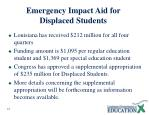 emergency impact aid for displaced students1