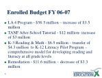 enrolled budget fy 06 07