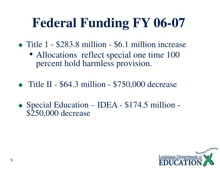 Federal Funding FY 06-07