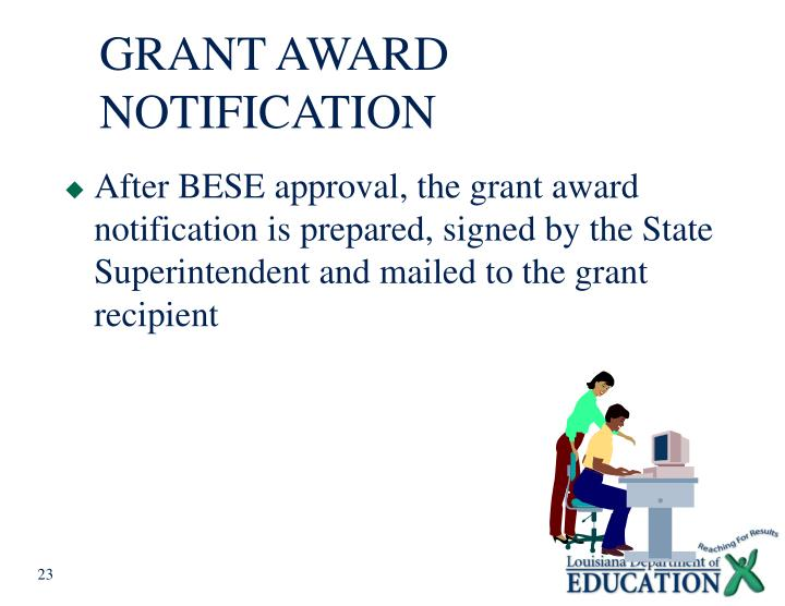 GRANT AWARD NOTIFICATION