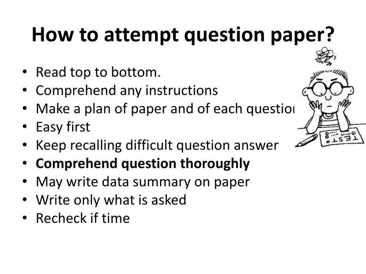 How to attempt question