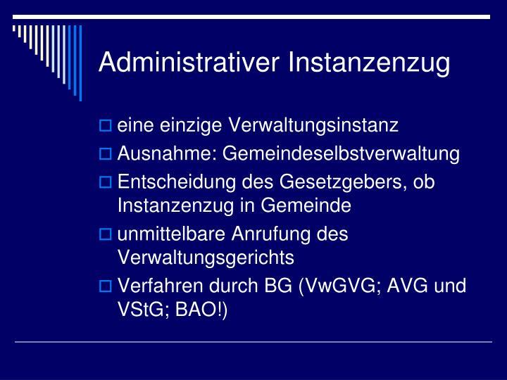 Administrativer Instanzenzug