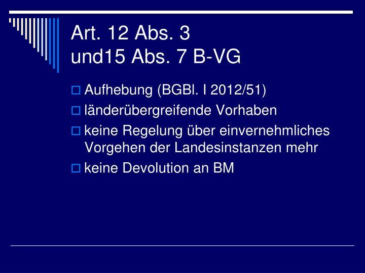 Art. 12 Abs. 3