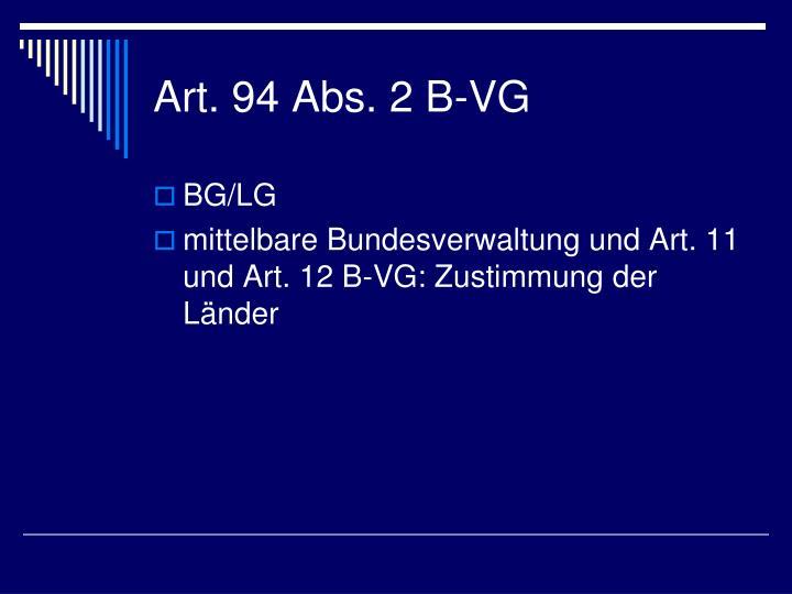 Art. 94 Abs. 2 B-VG