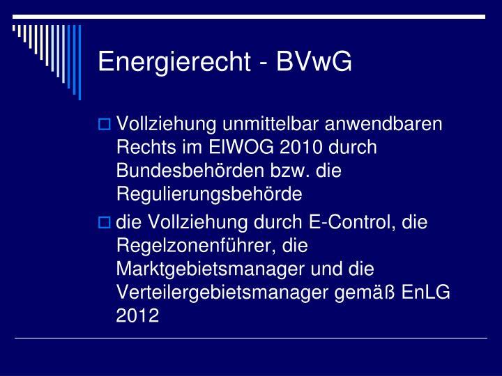Energierecht -
