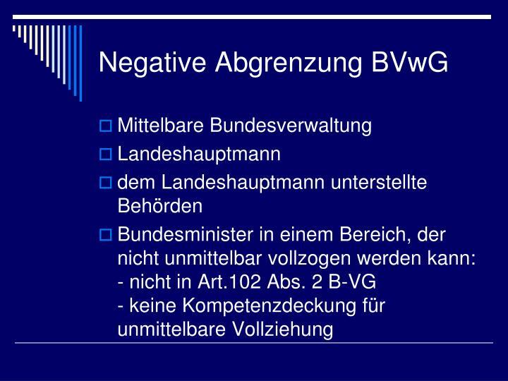 Negative Abgrenzung BVwG