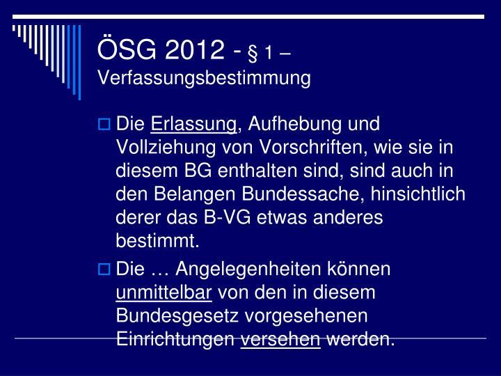 ÖSG 2012 -