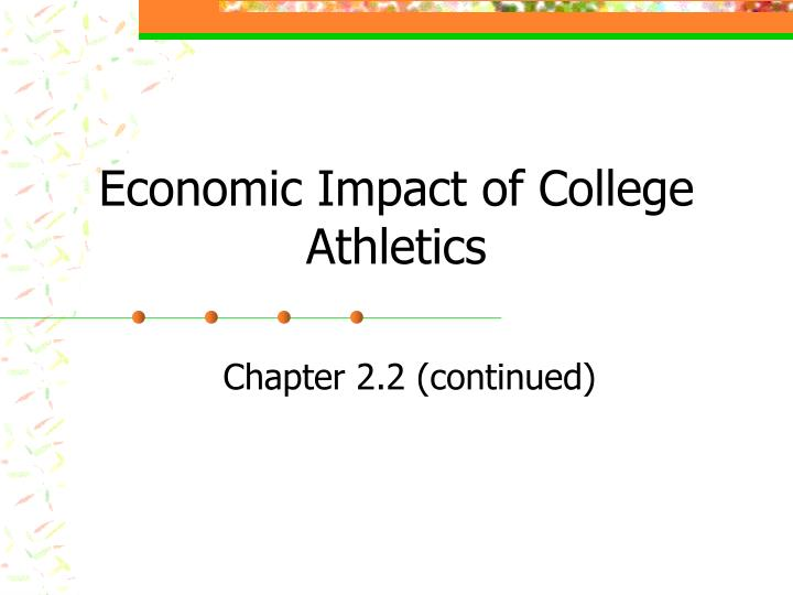 Economic impact of college athletics