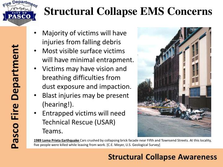 Structural Collapse EMS Concerns