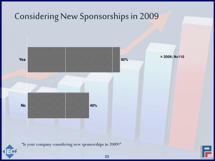 Considering New Sponsorships in 2009