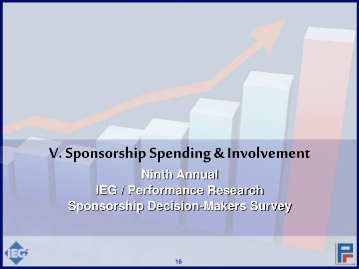 V. Sponsorship Spending & Involvement
