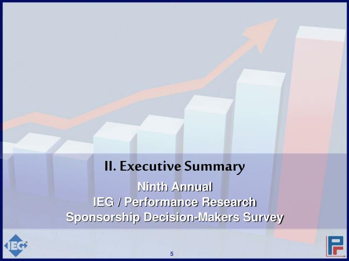 II. Executive Summary