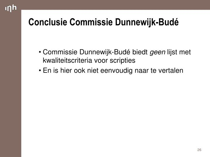 Conclusie Commissie