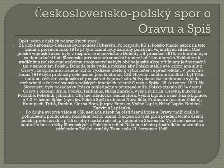 Československo-polský spor o Oravu