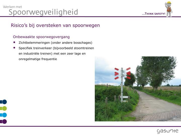 Risico's bij oversteken van spoorwegen