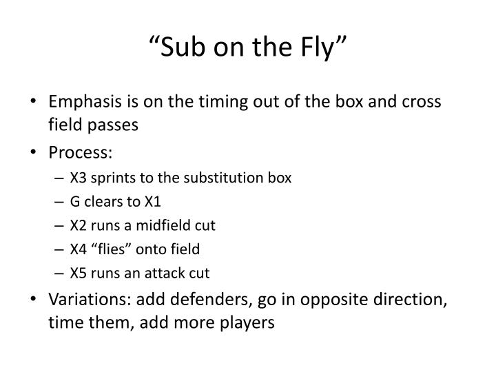 """Sub on the Fly"""