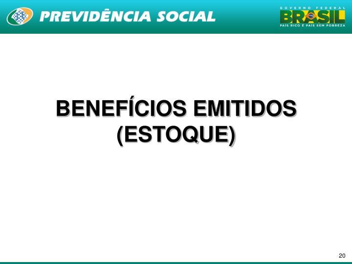BENEFÍCIOS EMITIDOS