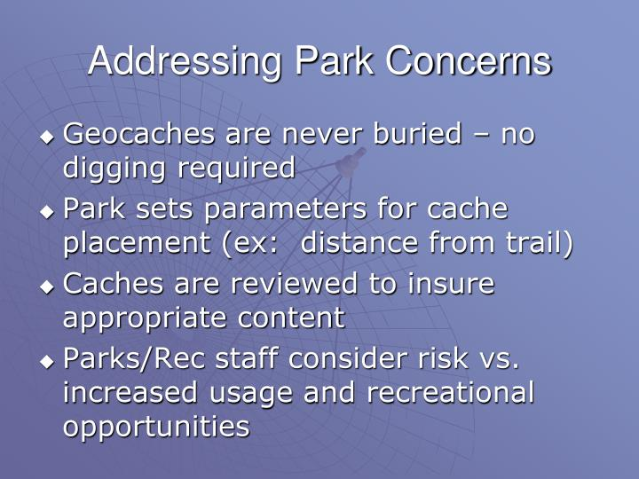 Addressing Park Concerns