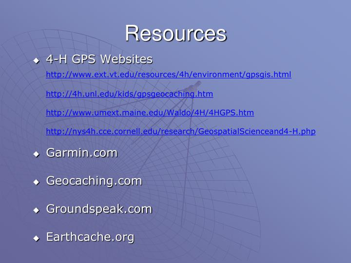 4-H GPS Websites