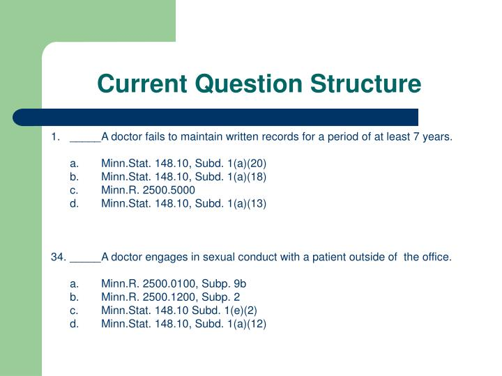 Current Question Structure