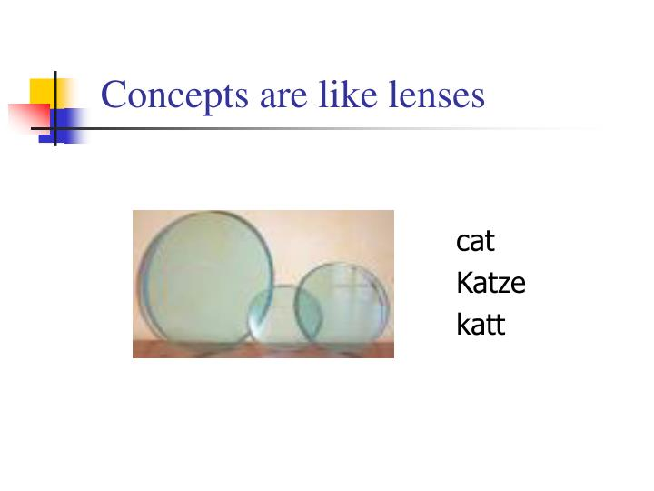 Concepts are like lenses