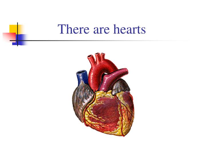 There are hearts