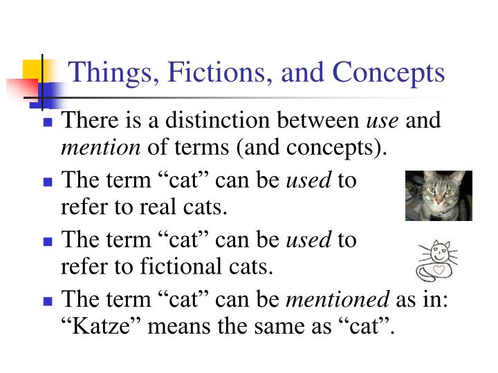 Things, Fictions, and Concepts