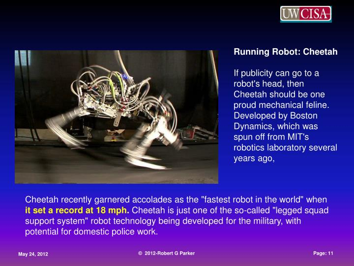 Running Robot: Cheetah