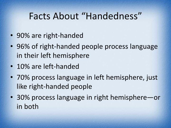 "Facts About ""Handedness"""